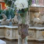 Allestimento buffet con corteccia, ortensie e lavanda - Pepe Rosa Eventi