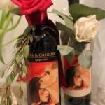 Bottiglia di vino come bomboniera con etichetta personalizzata - Pepe Rosa Eventi