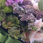 Composizione in verde e viola - Pepe Rosa Eventi