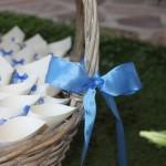 Conetti personalizzati per un matrimonio in blu - Pepe Rosa Eventi