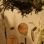 Tableau con ciocchetti di legno - Pepe Rosa Eventi