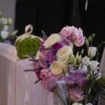 Bouquet lilla e viola e cuscino delle fedi floreale - Pepe Rosa Eventi