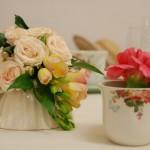 Tazze fiorite - Pepe Rosa Eventi