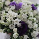 Bouquet bianco e Viola per Sabrina - Pepe Rosa Eventi