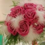 Bouquet da lancio particolare con piume - Pepe Rosa Eventi